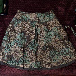 midi flowy skirt